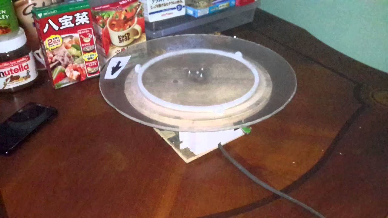 Home Made Motorized Cake Turn Table Part 2 Wt Rolling Disc Weight Support