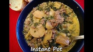 Instant Pot Zuppa Toscana - Sausage Potato Soup