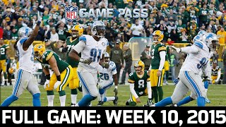 Lions First Win at Lambeau in 24 Years! Lions vs. Packers 2015, Week 10 FULL GAME
