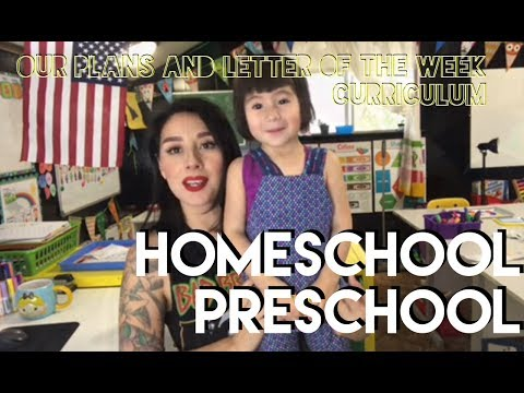 Homeschool Preschool ! Our plans !