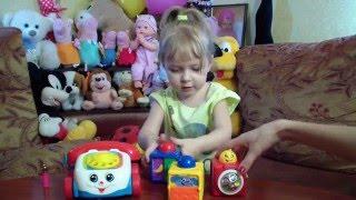 Обзор телефона и кубиков Фишер Прайс. Развивающие игрушки.- educational toys Fisher Price.