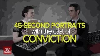 Hayley Atwell and Eddie Cahill draw 45-second portraits of each other.
