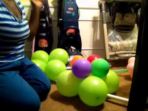 diy balloon columns youtube. Black Bedroom Furniture Sets. Home Design Ideas