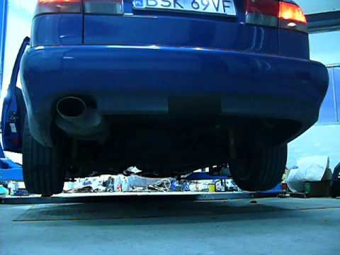 "Saab 9-3 B205 cold start custom exhaust 3""/ 2.5"""