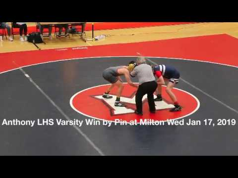 caf1d90e06e Anthony LHS Varsity Win by Pin at Milton Wed Jan 17