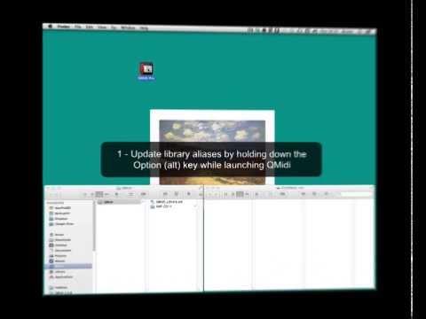 QMidi Screencast - Moving the QMidi Library and related media files