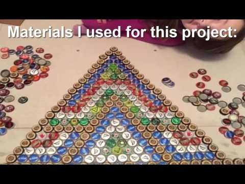 How to create a superbe design with bottle cap floor tile