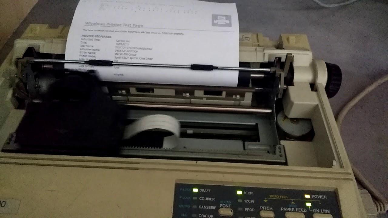 Star LC-100 Colour test print
