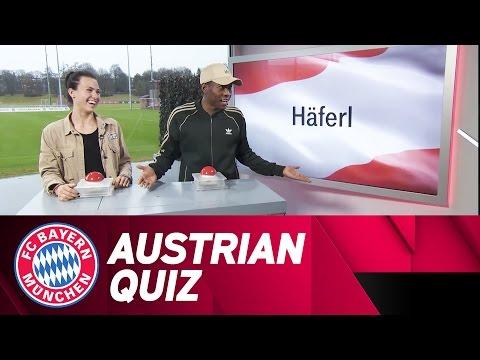 Austrian Quiz Battle! David Alaba & Viktoria Schnaderbeck   FC Bayern