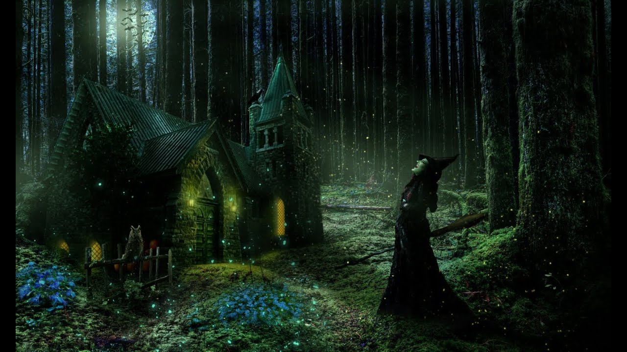 Fall Cottage Wallpaper The Witch Forest Speed Art Photoshop By Garson Youtube
