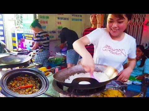 Em gái Sài Gòn bán cơm cháy kho quẹt cực ngon trên vĩa hè  | street food of saigon
