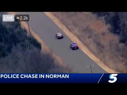 Police Chase in Norman Ok 12/7. Crazy Crash!