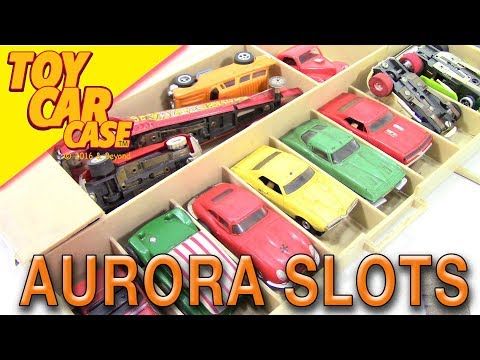 Vintage 1960 -70 Aurora and AFX Slot Cars Toy Car Case