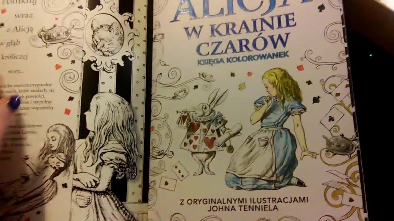 Alicja W Krainie Czarów Księga Kolorowanek Youtube