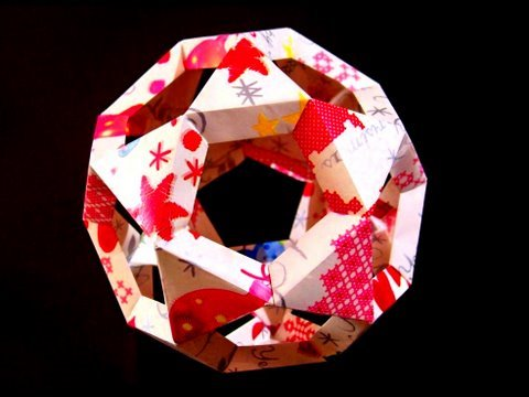 How To Make A Paper Christmas Tree Ball Or Origami