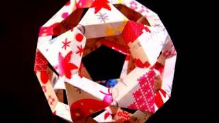 How To Make A Paper Christmas Tree Ball Or Origami Icosidodecahedron