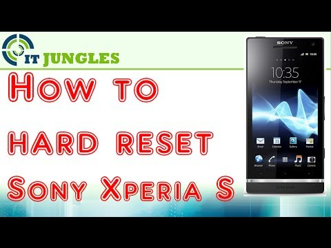 how to reset a sony xperia s May 28
