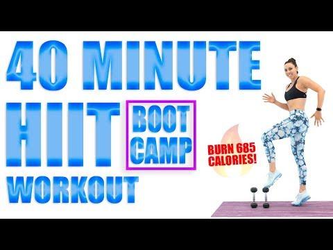 40 Minute HIIT Bootcamp Workout 🔥Burn 510 Calories! 🔥