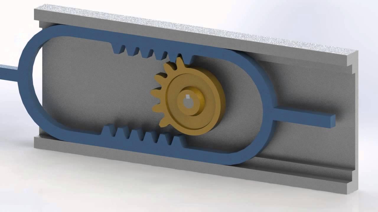 Reciprocating Gear Mechanism : Reciprocate gear mechanism d model youtube