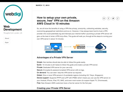 How to setup your own private, secure, free* VPN on the Amazon AWS