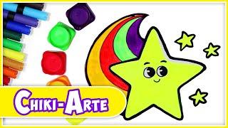 Cómo dibujar una estrella - Dibujos para niños | Chiki-Arte Aprende a Dibujar
