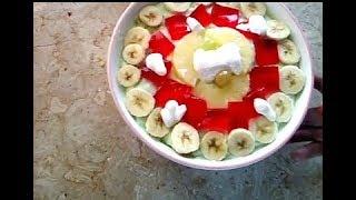 MAZEDAR FRUIT TRIFLE SWEET PAKISTANI DISH