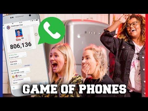 YOUTUBERS KIJKEN IN ELKAARS TELEFOON BIJ GAME OF PHONES! | Free-for-all Friday | Challenges Cup #18