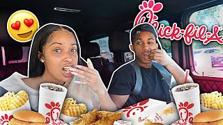 I Told Her I Want To Have Kids With Her... | CHIC-FIL-A MUKBANG WITH KENNEDY