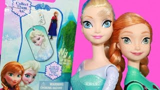Surprise Frozen Disney Elsa Dog Tag Princess Anna Olaf Summer Barbie Queen Elsa Collection Foil Bag