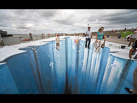 Optical illusions part 2 youtube for 3d street painting mural art