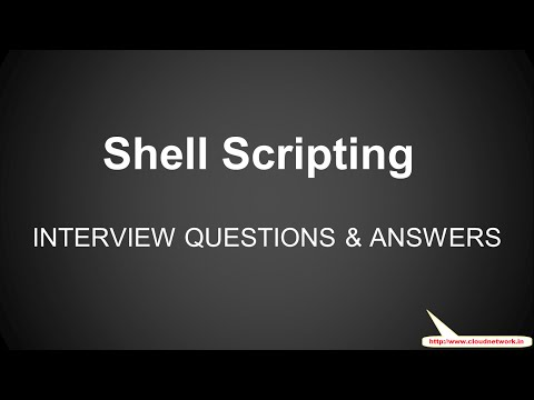 Linux Shell Scripting Interview Questions and Answers for Fresher & Experience