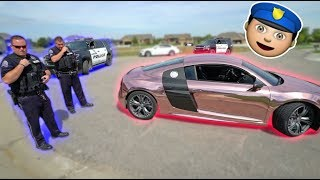 SPEEDING TICKET CHALLENGE IN AUDI R8! *WTF*