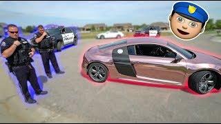 Speeding Ticket Challenge In Audi R8! *Wtf*