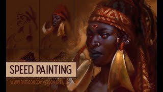 Asiman Fire - speed painting (time-lapse) by Iga Oliwiak aka IgsonArt