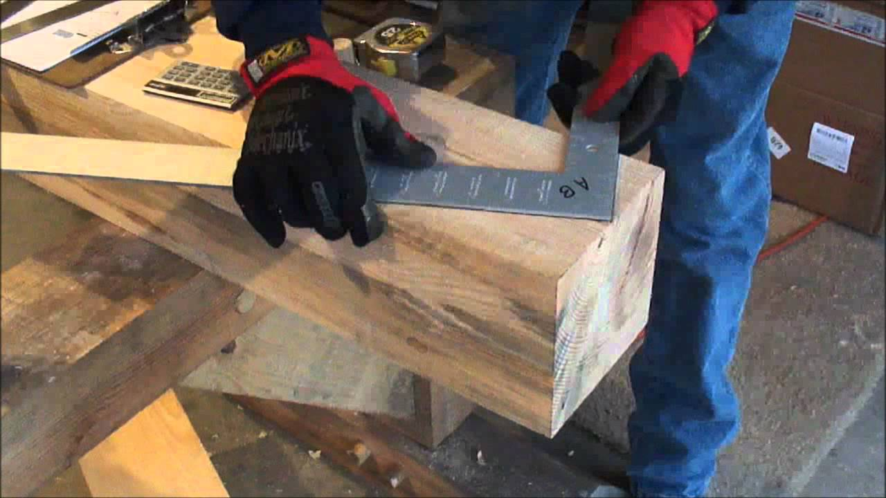 Timber Frame Gin Pole Brace Layout Amp Cut Part 3 Of 4