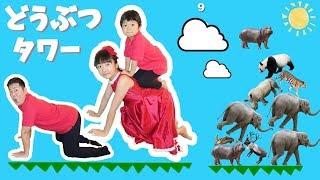 ★どうぶつタワー「高く積み上げるぞ~!」★Animal Tower Game★ thumbnail
