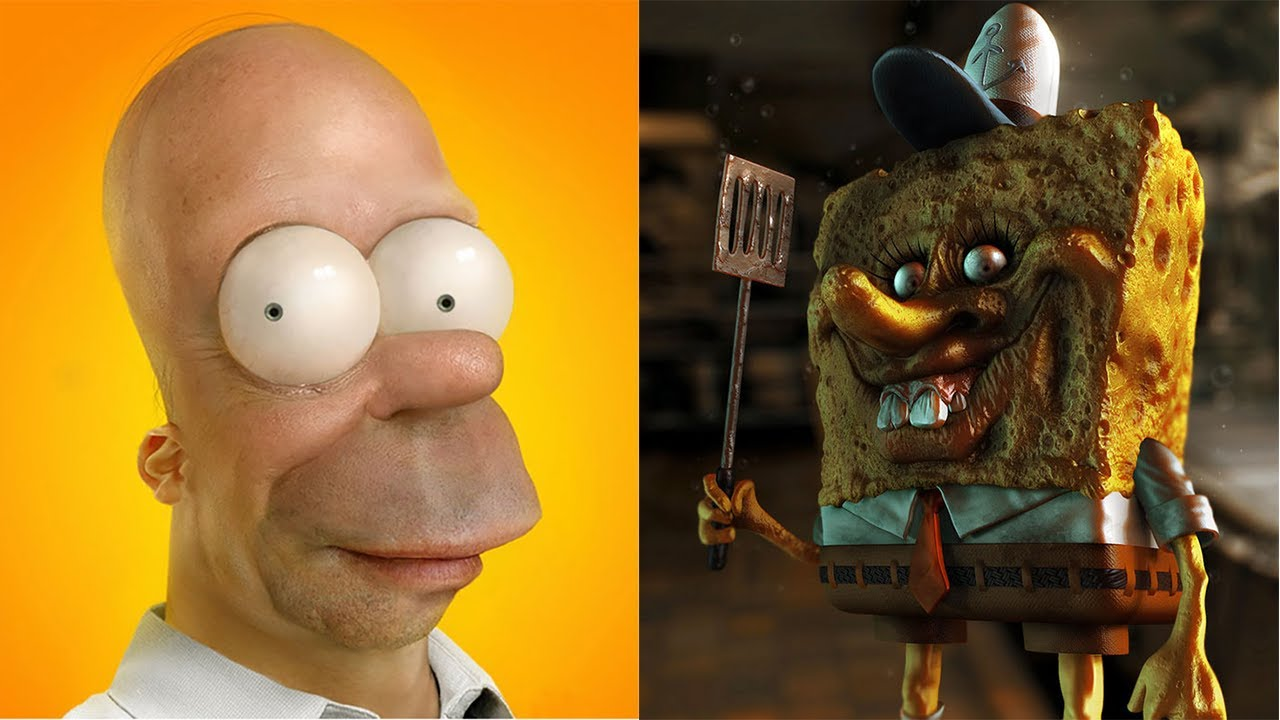 Scary 3d Version Of The Cute Cartoon Characters All Characters