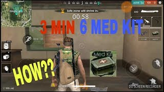 HOW TO GET 6 MED KITS IN 3 MINUTES?? | CHECK OUT THIS PLACE | FREE FIRE