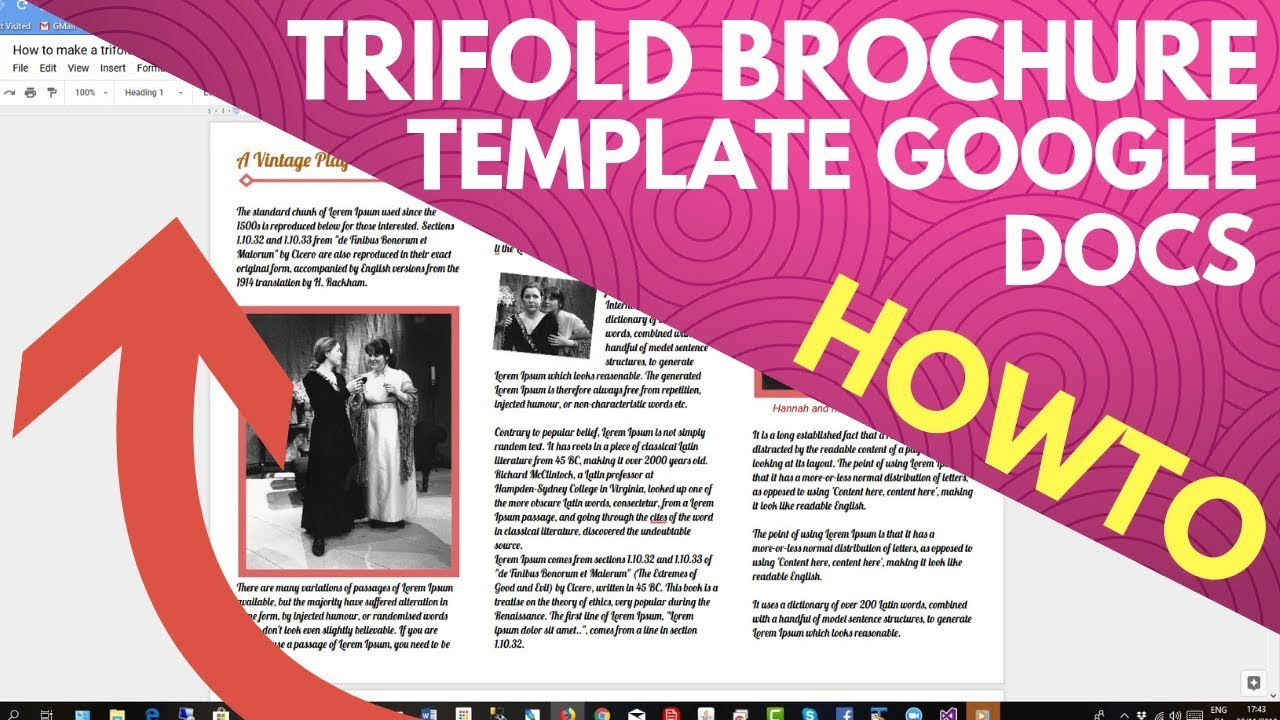 Trifold Brochure Template Google Docs Youtube
