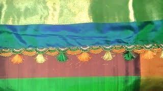 Double Krosha Saree Kuchu 2 || How To Make Double Crochet Saree Tassels 2