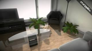 Interactive walkthrough in realtime 3D for touchscreens