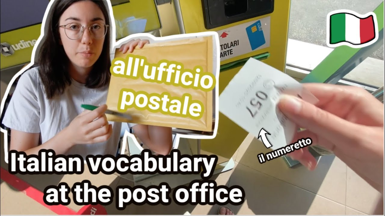 Italian vocabulary at the post office (vlog style + subs)