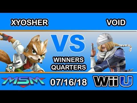 MSM 155 - xYosher (Fox) Vs CLG | VoiD (Shiek) Winners Quarters - Smash 4