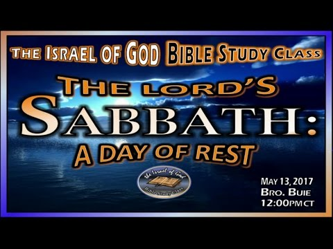 """IOG - """"The Lord's Sabbath: A Day Of Rest"""" 2017"""