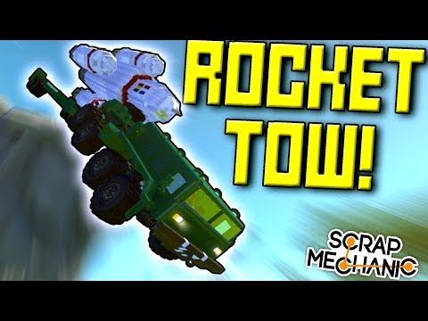 GIANT MISSILE ON GIANT TRUCK! (Russian MAZ Truck Part 2) - Scrap Mechanic Gameplay