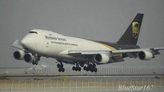 United Parcel Service (UPS) Boeing 747-400F (N581UP) landing at KIX/RJBB (Osaka - Kansai) RWY 24R