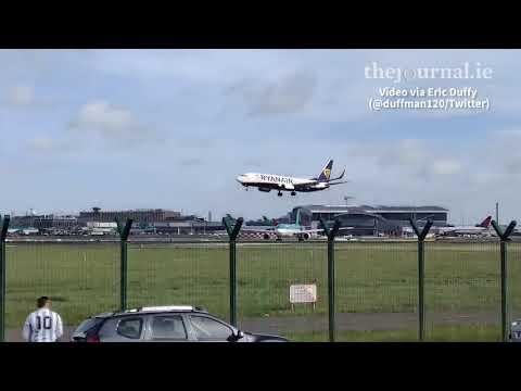 Ryanair Flight rethinks landing amid strong Storm Ali winds at Dublin Airport