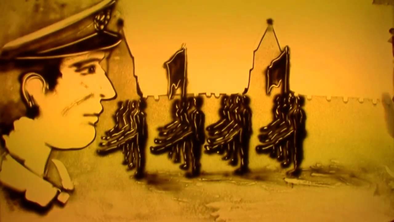 Картинки, песочная анимация 70 лет победы