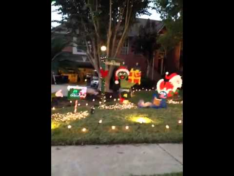Sesame Street Christmas yard decorations - Sesame Street Christmas Yard Decorations - YouTube