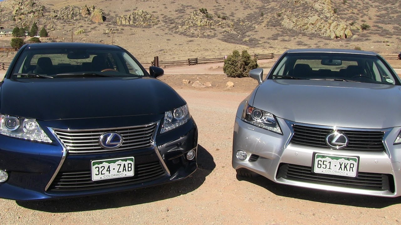 2013 Lexus ES Vs GS 0 60 MPH Mashup Review: Whatu0027s The Best New Lexus  Sedan?   YouTube